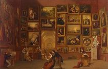 Gallery of the louvre 1831 33 samuel morse