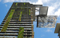 Hanging gardens of one central park  sydney